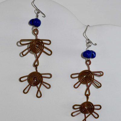 Linked Dragonflies Earrings